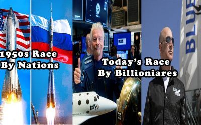 1950s Countries Race Into Space 2021 Billionaires Now Race To Space